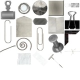 Office Supplies (silver) Digital Embellishments