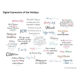 Digital Expressions Of The Holidays