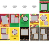 Kwanzaa 5x7 Portrait Folded Card Templates