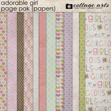 Adorable Girl Page Pak