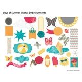 Days Of Summer Digital Embellishments