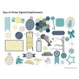 Days Of Winter Digital Embellishments