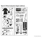 Black & White Graduation Digital Additions