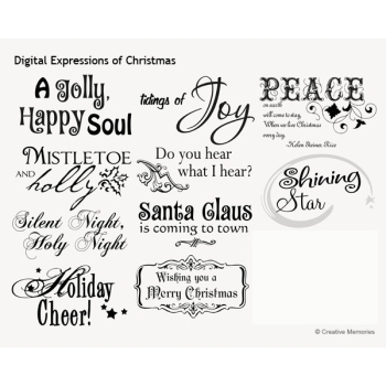 Christmas Expressions.Digital Expressions Of Christmas Digital Art