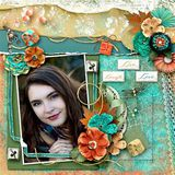 Live Colorful Torn And Curled Borders