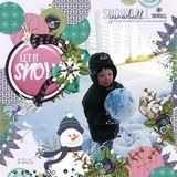 Snow Days Chalkboard Words