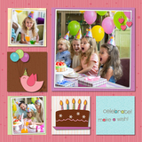 Birdy Birthday Pre-designed Pages