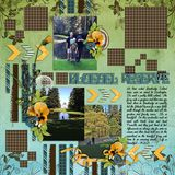 A Woodland Spring Page Border Overlays