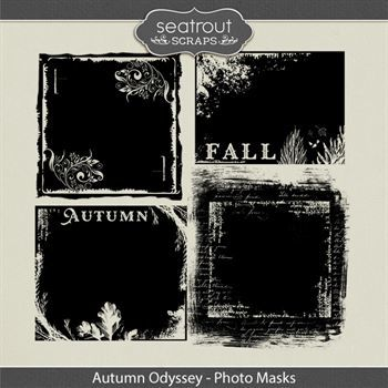 Autumn Odyssey Photo Masks Digital Art - Digital Scrapbooking Kits