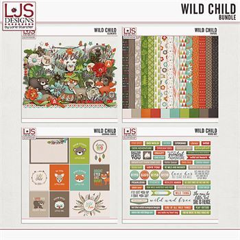 Wild Child - Bundle Digital Art - Digital Scrapbooking Kits