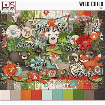 Wild Child - Kit Digital Art - Digital Scrapbooking Kits