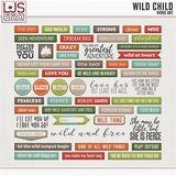 Wild Child - Word Art