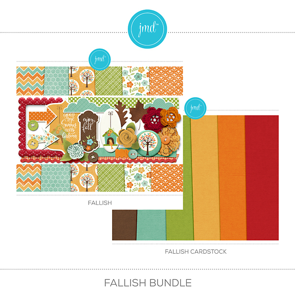 Fallish Bundle Digital Art - Digital Scrapbooking Kits