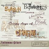 Autumns Grace Word Art
