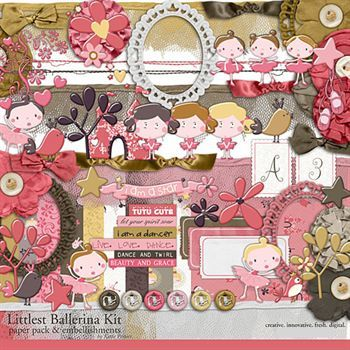 Littlest Ballerina Kit Digital Art - Digital Scrapbooking Kits