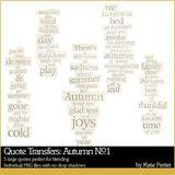 Quote Transfers Autumn No. 01