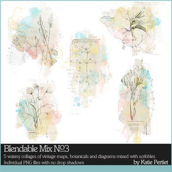 Blendable Mix No. 03 Digital Art - Digital Scrapbooking Kits