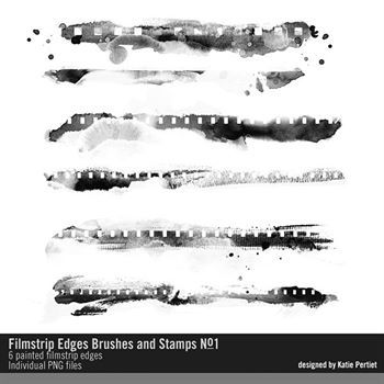 Filmstrip Edges Brushes And Stamps No. 01