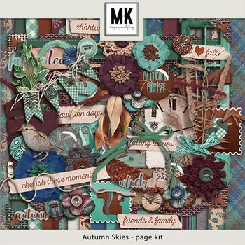 Autumn Skies - Page Kit