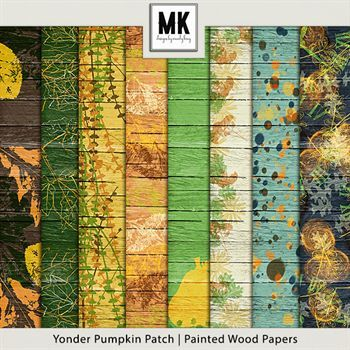 Yonder Pumpkin Patch - Painted Wood Papers