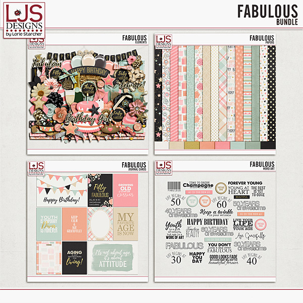 Fabulous - Bundle Digital Art - Digital Scrapbooking Kits
