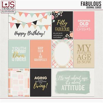 Fabulous - Journal Cards