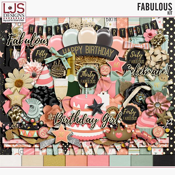 Fabulous - Kit Digital Art - Digital Scrapbooking Kits