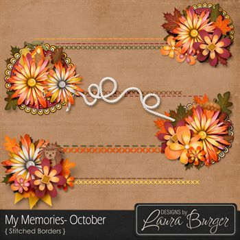 My Memories October Stitched Borders