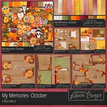 My Memories October Bundle Fwp Elements