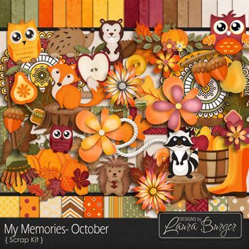 My Memories October Scrap Kit