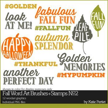 Fall Word Art Brushes And Stamps No. 02