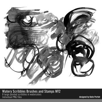 Watery Scribbles Brushes And Stamps No. 02