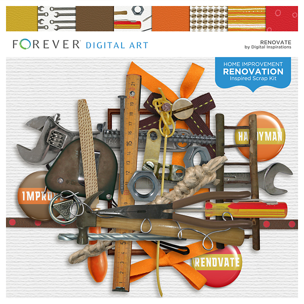 Renovate Digital Art - Digital Scrapbooking Kits