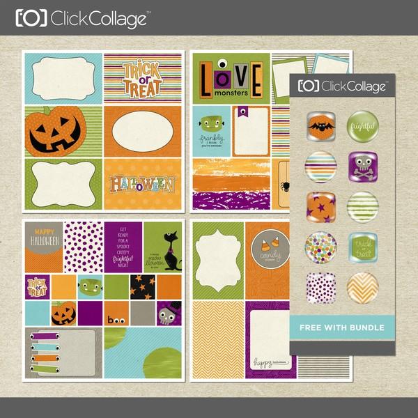 Frightful Card Kit Bundle Digital Art - Digital Scrapbooking Kits