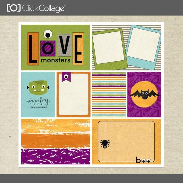 Frightful Card Kit 2 Digital Art - Digital Scrapbooking Kits