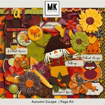 Autumn Escape Page Kit