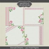 Damask Dreams Lace Inset Papers