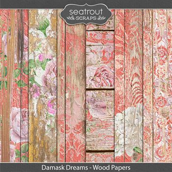 Damask Dreams Wood Papers