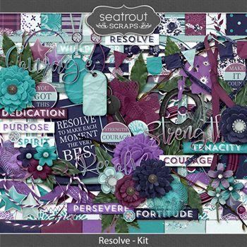 Resolve Kit Digital Art - Digital Scrapbooking Kits