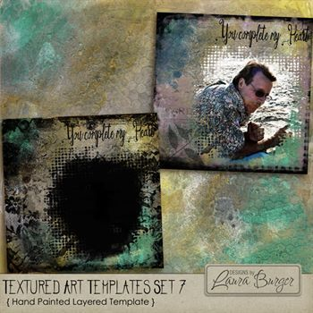 Textured Art Template 7