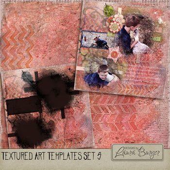 Textured Art Template 5