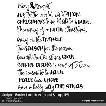 Scripted Border Lines Brushes And Stamps No. 01