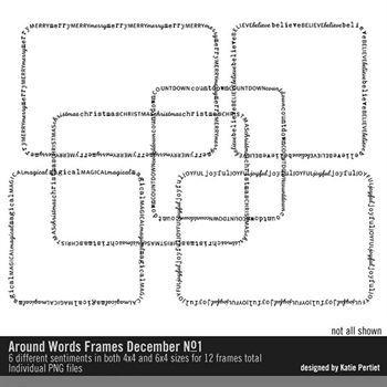 Around Words Frames December No. 01