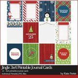 Jingle 3x4 Printable Journal Cards