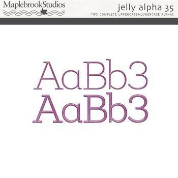 Jelly Alphabet No. 35