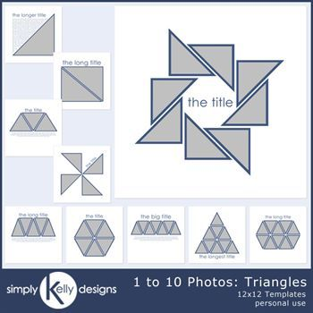 1 To 10 Photo Templates - Triangles