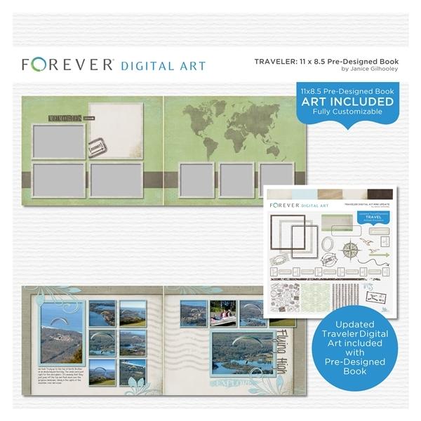 Traveler Pre-designed Book 11x8.5