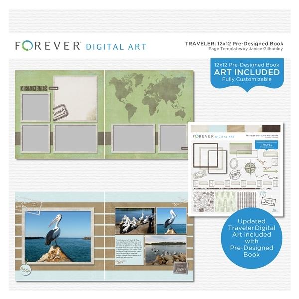 Traveler Pre-designed Book 12x12