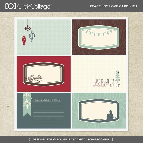Peace Joy Love Card Kit 1