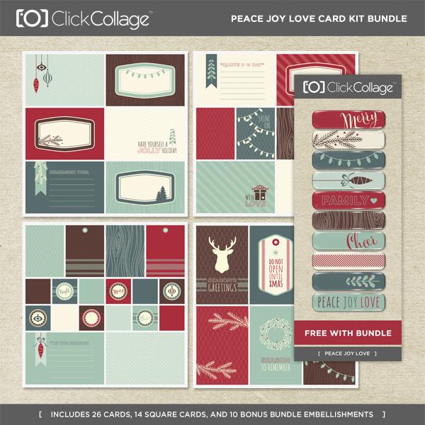 Peace Joy Love Card Kit Bundle